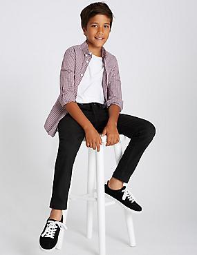 Cotton Rich Jeans (3-16 Years), BLACK DENIM, catlanding