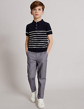 Cotton Rich Textured Chinos (3-14 Years)