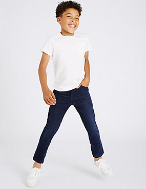 Cotton Cord Trousers with Stretch (3-14 Years)
