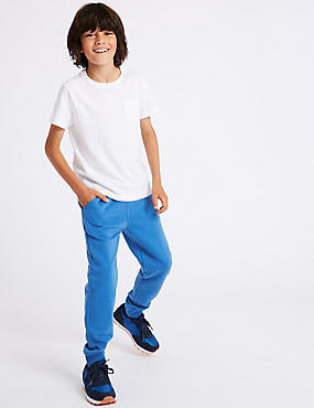 Cotton Rich Joggers (3-16 Years), BLUE, catlanding