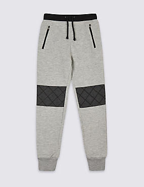 Cotton Rich Joggers (3-16 Years), GREY MIX, catlanding