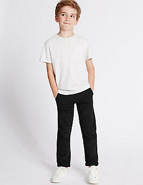 Cotton Rich Trousers with Stretch (3-14 Years)