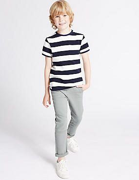 Cotton Trousers with Stretch (3-14 Years)