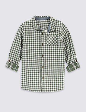 Pure Cotton Double Faced Checked Shirt (5-14 Years)