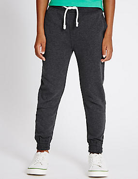 Cotton Rich Drawstring Joggers (3-14 Years)