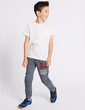 Cotton Rich Textured Joggers (3-14 Years)