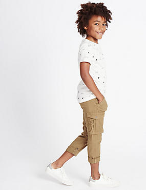 Linen Cargo Trousers (3-14 Years)