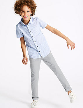 PLUS Chinos with Stretch (3-16 Years)