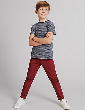 Pure Cotton Chinos (3-14 Years)