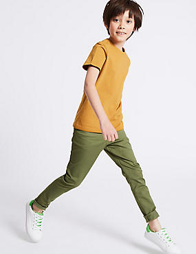 PLUS Cotton Rich Chinos with Stretch (3-16 Years)