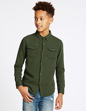 Pure Cotton Long Sleeve Shirt (3-14 Years)