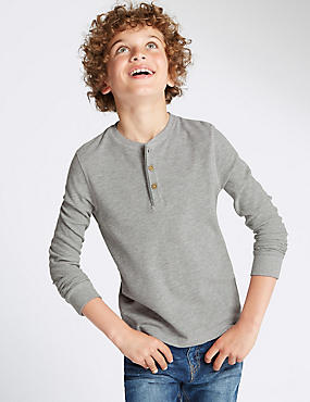 Cotton Rich Waffle T-Shirt (5-14 Years)