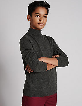 Roll Neck Long Sleeve Jumper (5-14 Years)