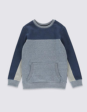 Cotton Rich Textured Sweatshirt (5-14 Years)