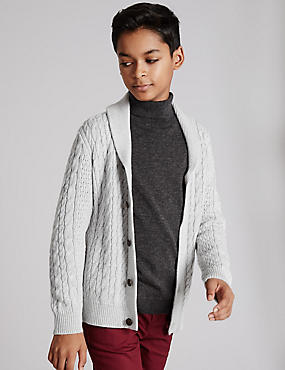 Cotton Rich Chunky Cardigan (5-14 Years)