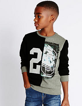 Cotton Blend Sweatshirt (5-14 Years)