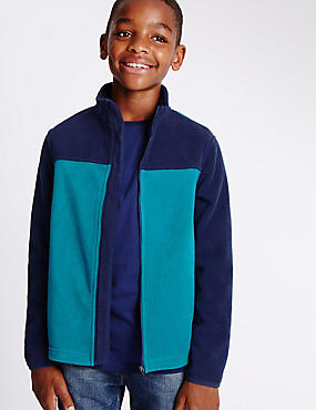 Polar Fleece Lined Zipped Through Jumper (5-14 Years)