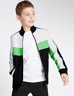 Cut & Sew Zipped Jacket (5-14 Years)