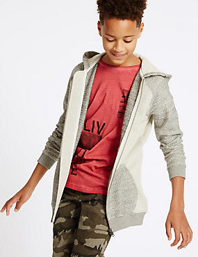 Pure Cotton Hooded Top (3-14 Years)