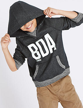 Pure Cotton Hooded Sweatshirt (5-14 Years)