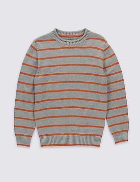 Pure Cotton Striped Jumper (5-14 Years)