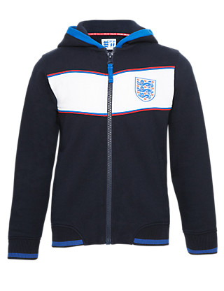 Pure Cotton Umbro 3 Lions Hooded Sweat Top Clothing