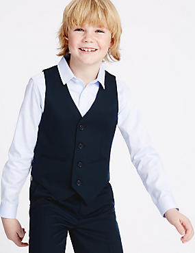 4 Button Waistcoat (3-14 Years), NAVY, catlanding