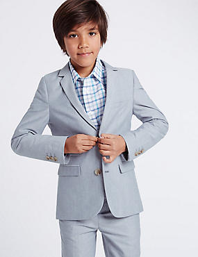 Oxford Textured Blazer (3-14 Years)