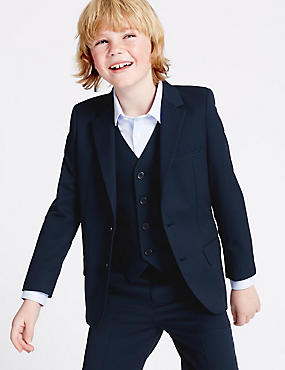 Notch Lapel Blazer (3-14 Years), NAVY, catlanding