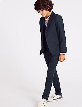 Checked Blazer (3-16 Years), NAVY MIX, catlanding