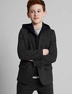 Mock Hooded Jersey Blazer (3-16 Years)