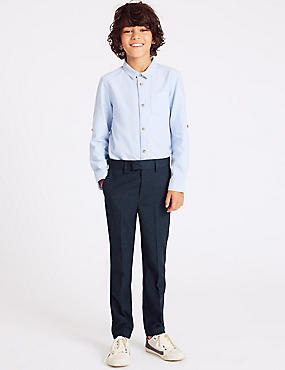 Checked Trousers (3-16 Years), NAVY MIX, catlanding