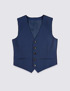 Bright Blue Waistcoat (3-16 Years), BRIGHT BLUE, catlanding