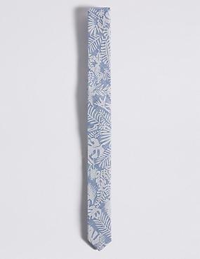 Pure Cotton Printed Tie (5-14 Years), BLUE, catlanding