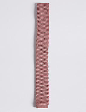 Knitted Tie (5-14 Years), PINK, catlanding