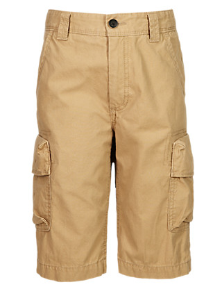 Pure Cotton Cargo Shorts (5-14 Years) Clothing