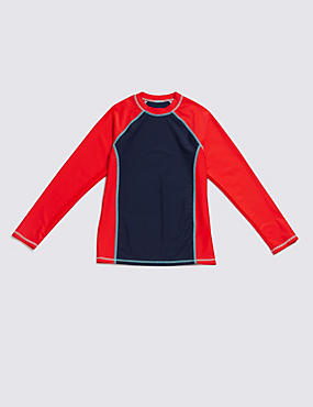 Long Sleeve Panel Rash Vest (5-14 Years)