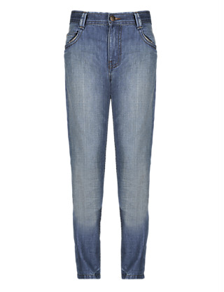 Premium Pure Cotton Straight Leg Jeans (5-14 Years) Clothing