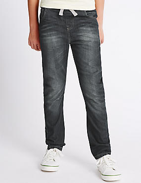 Pure Cotton Rib Waist Oleg Jeans (3-14 Years)