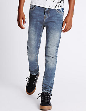 Cotton Slim Fit Denim Jeans with Stretch (3-14 Years)