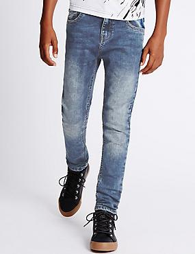 Skinny Leg Jeans with Stretch (3-14 Years), DENIM, catlanding