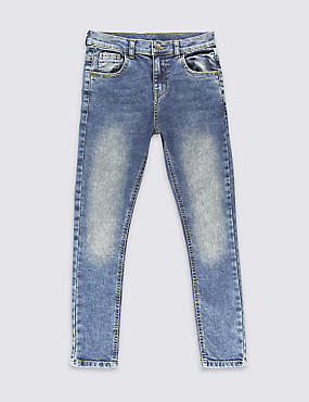 Cotton with Stretch Slim Fit Denim Jeans (3-14 Years)