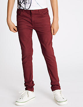 Cotton with Stretch Slim Fit Jeans (3-14 Years)