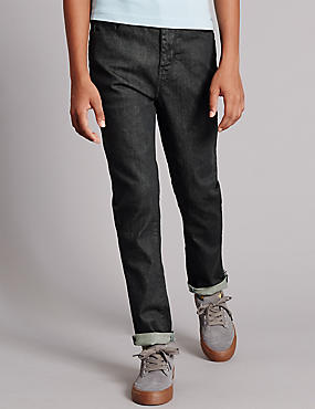 Cotton with Stretch Slim Denim Jeans (5-14 Years)