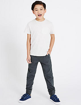 Pure Cotton Cargo Trousers (5-14 Years)