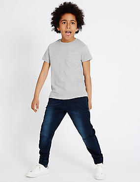 Adjustable Waist Denim Joggers (3-14 Years)