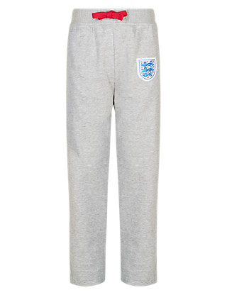 England FA Cotton Rich 3 Lions Joggers (5-14 Years) Clothing