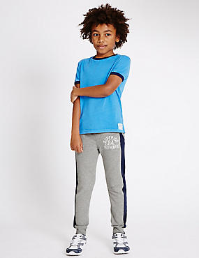 Cotton Rich Striped Joggers (3-14 Years)