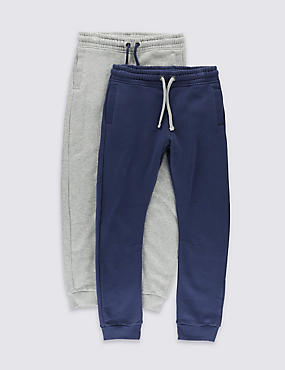 2 Pack Cotton Rich Joggers (5-14 Years)