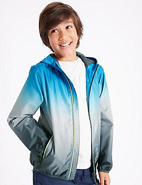 Dip Dye Shell Hooded Jacket (3-14 Years)